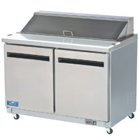 Arctic Air Mega Top AMT60R 60 inch Refrigerated Sandwich / Salad Prep Table with Two Doors