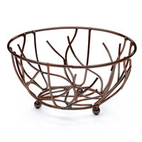 Elite Global Solutions WB94 9 inch Antique Copper Round Wire Basket