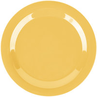 Carlisle 3300222 Sierrus 10 1/2 inch Honey Yellow Narrow Rim Melamine Plate - 12/Case