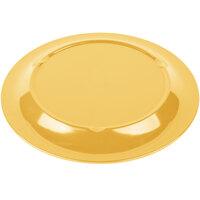 Carlisle 3300222 Sierrus 10 1/2 inch Honey Yellow Narrow Rim Melamine Plate - 12/Case