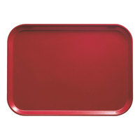 Cambro 2632221 10 7/16 inch x 12 3/4 inch (26,5 x 32,5 cm) Rectangular Metric Ever Red Fiberglass Camtray - 12 / Case