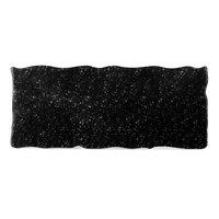 Elite Global Solutions QS2410 Rocky Mountain High 23 3/4 inch x 10 inch Black Granite Rectangular Riser