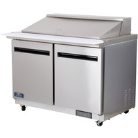 Arctic Air AMT48R 48 inch 2 Door Mega Top Refrigerated Sandwich Prep Table