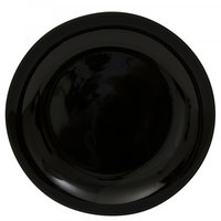 10 Strawberry Street BCP0024 Black Coupe 12 inch Porcelain Round Charger Plate - 12/Case