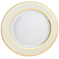 10 Strawberry Street IRIANA-24(GLD) 12 inch Iriana Gold Round Charger Plate - 12/Case