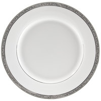 10 Strawberry Street PAR-24P 11 7/8 inch Paradise Silver Porcelain Round Charger Plate - 12/Case