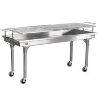 Backyard Pro CHAR60SS 60 inch Stainless Steel Charcoal Grill with Removable Legs and Cover