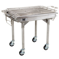 Backyard Pro 30 inch Stainless Steel Charcoal Grill with Removable Legs and Cover