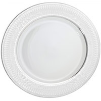 10 Strawberry Street IRIANA-24(SLV) 12 inch Iriana Silver Porcelain Round Charger Plate - 12/Case