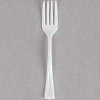 Fineline Tiny Temptations 6500-WH 3 7/8 inch Tiny Tines White Plastic Tasting Fork - 48/Pack