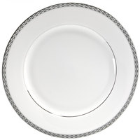 10 Strawberry Street ATH-24P 11 7/8 inch Athens Two-Tone Silver Round Charger Plate - 12/Case