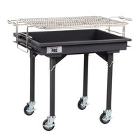 Backyard Pro 30 inch Heavy-Duty Steel Charcoal Grill with Removable Legs and Cover
