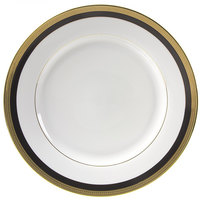 10 Strawberry Street SAH-24BK 11 7/8 inch Sahara Black Round Charger Plate - 12/Case