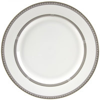 10 Strawberry Street SOP-24 11 7/8 inch Sophia Round Porcelain Charger Plate - 12/Case