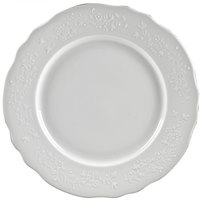 10 Strawberry Street VINE-24SL Vine Silver Line 13 inch Round White Porcelain Charger Plate