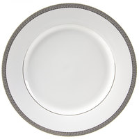 10 Strawberry Street LUX-24P 11 7/8 inch Luxor Silver Round Charger Plate - 12/Case
