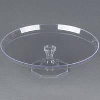 Fineline Platter Pleasers 3602-CL 13 3/4 inch Two-Piece Clear Cake Stand - 12/Case