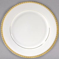 10 Strawberry Street ATH-24G 11 7/8 inch Athens Two-Tone Gold Round Charger Plate - 12/Case