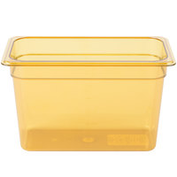 Carlisle 3086913 StorPlus 1/3 Size Amber High Heat Food Pan - 8 inch Deep