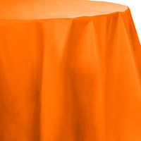 Creative Converting 703282 82 inch Sunkissed Orange OctyRound Disposable Plastic Table Cover   - 12/Case