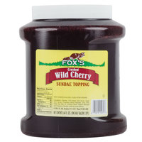 Fox's Cherry Ice Cream Topping - 6 - 1/2 Gallon Containers / Case