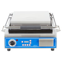 Globe GPG14D Deluxe Sandwich Grill with Grooved Plates - 14 inch x 14 inch Cooking Surface - 120V, 1800W