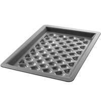 Chicago Metallic 70821 BAKALON 16 Gauge Anodized Aluminum Customizable Diamond Grill Pan - 8 1/3 inch x 11 1/2 inch
