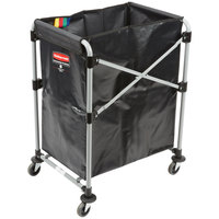 Rubbermaid 1881749 Laundry Cart - 4 Bushel X-Frame Collapsible Folding Cart