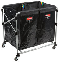 Rubbermaid 1881781 Laundry Cart - 4 Bushel Collapsible Two Section X-Cart