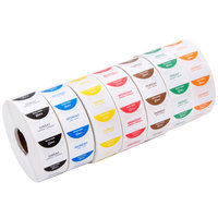 Noble Products 1 inch Removable Day of the Week Label Rolls