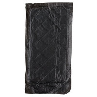 Black 4 inch x 7 inch Absorbent Meat, Fish, and Poultry Pad 50 Grams - 2000/Case