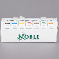 Noble Products 7-Slot Dispenser with Noble Products Removable 1 inch Day of the Week Labels