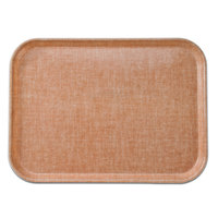 Cambro 2632329 10 7/16 inch x 12 3/4 inch (26,5 x 32,5 cm) Rectangular Metric Linen Toffee Fiberglass Camtray - 12/Case
