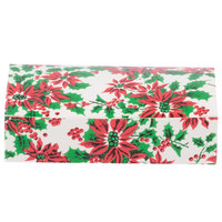 4 1/2 inch x 2 5/16 inch x 1 1/8 inch 1-Piece 1/4 lb. Poinsettia Candy Box - 250/Case