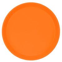 Cambro 1000222 10 inch Round Orange Pizzazz Customizable Fiberglass Camtray - 12/Case
