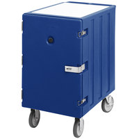 Cambro 1826LTCSP186 Camcart Navy Blue Mobile Cart for 18 inch x 26 inch Sheet Pans and Trays with Security Package