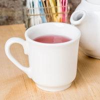 Homer Laughlin 6546000 Pristine 8 oz. Bright White China Tea Cup - 36/Case