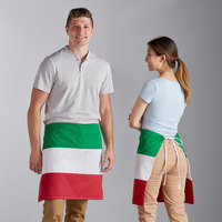 Choice Italian Poly-Cotton Waist Apron with 2 Pockets - 20 inchL x 27 inchW