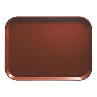 Cambro 2632501 10 7/16 inch x 12 3/4 inch (26,5 x 32,5 cm) Rectangular Metric Real Rust Fiberglass Camtray - 12 / Case