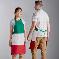 Choice Italian Poly-Cotton Bib Apron with 2 Pockets - 32 inchL x 30 inchW