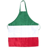 Choice Italian 32 inchL x 28 inchW Three-Panel Full Length Bib Apron with Pockets