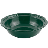 Bon Chef 9054 Queen Anne 10 Qt. Sandstone Hunter Green Cast Aluminum Salad Bowl