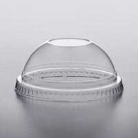 Fabri-Kal DLKC12/20NH Kal-Clear/Nexclear 9 oz. Clear PET Plastic Dome Lid No Hole - 100/Pack