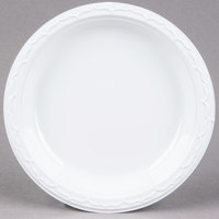 Genpak 70900 Aristocrat 9 inch White Premium Plastic Plate   - 125/Pack