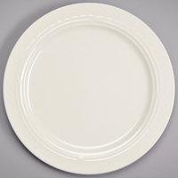 Homer Laughlin 3337000 Gothic 10 inch Ivory (American White) Undecorated Mid Rim China Plate - 24/Case
