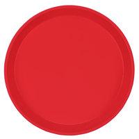 Cambro 1000510 10 inch Round Signal Red Customizable Fiberglass Camtray - 12/Case