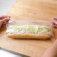 Plastic Lip and Tape Resealable Sandwich Bag 14 inch x 7 inch - 1000/Case