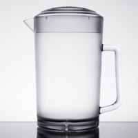 GET P-3064-1-CL 64 oz. Clear Textured Pitcher with Lid - 12/Case