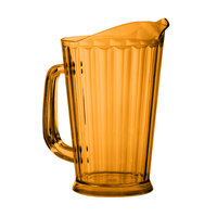 GET P-1064-1-A 60 oz. Amber Pitcher - 12 / Case