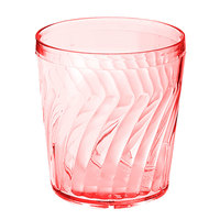 GET 2209-1-R Tahiti 9 oz. Red SAN Customizable Plastic Tumbler - 72/Case